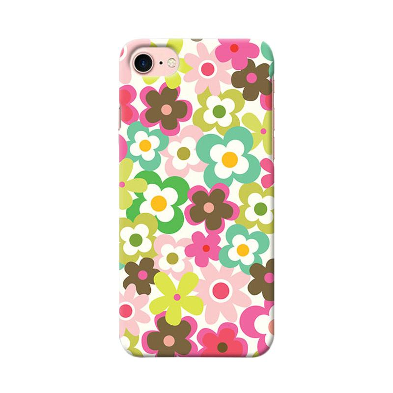 Premiumcaseid Cute Colorful Flower Hardcase Casing for iPhone 8