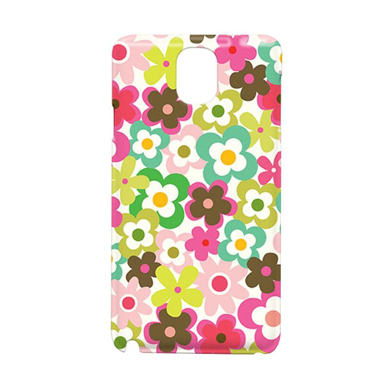Premiumcaseid Cute Colorful Flower Hardcase Casing for Samsung Galaxy Note Edge