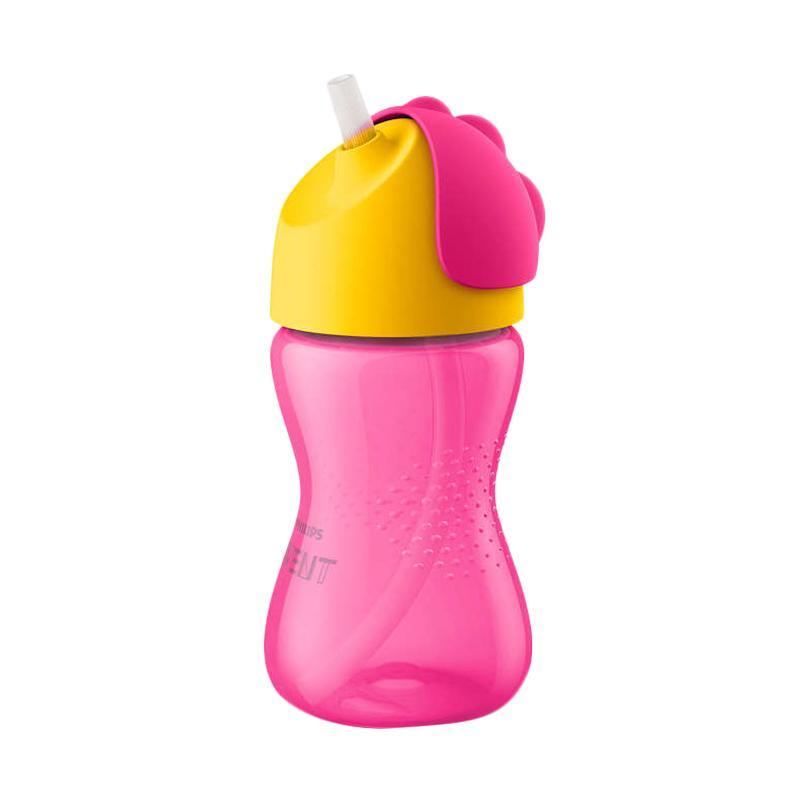 Philips Avent Straw Cup Single Girl Botol Minum Anak - Pink [300 mL]