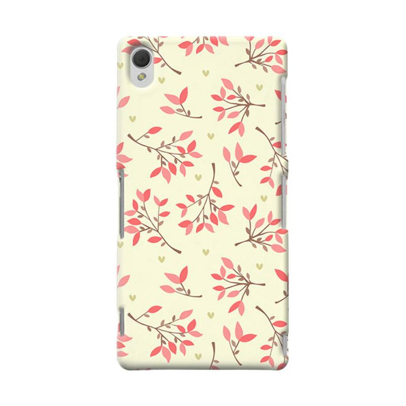 Premiumcaseid Cute Floral Seamless Shabby Hardcase Casing for Sony Xperia Z3