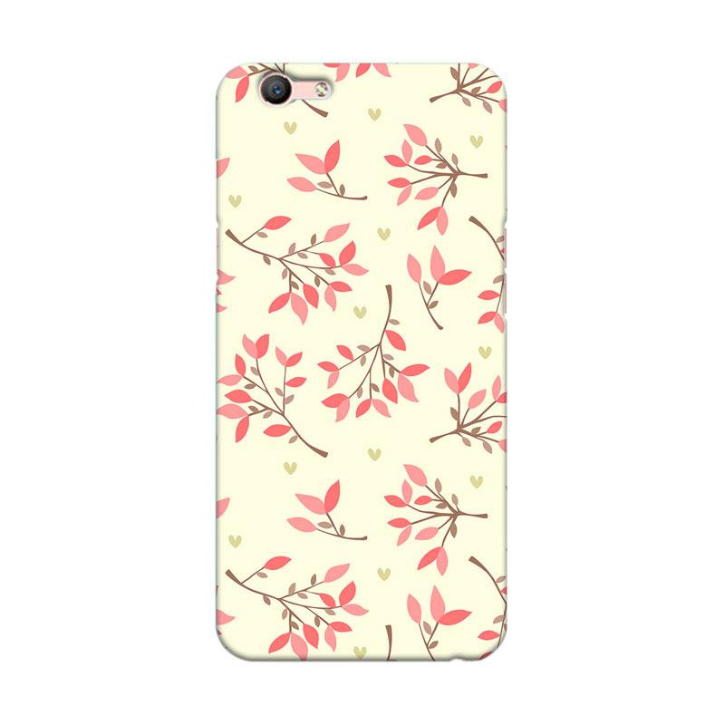Premiumcaseid Cute Floral Seamless Shabby Cover Hardcase Casing for Oppo F1s