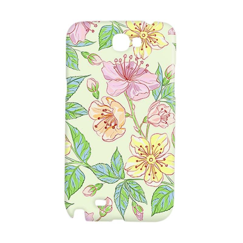 Premiumcaseid Beautiful Flower Wallpaper Hardcover Casing for Samsung Galaxy Note 2