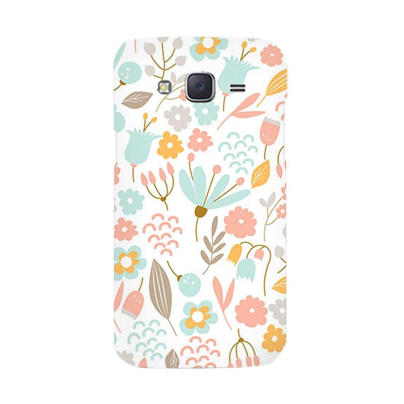 Premiumcaseid Cute Pastel Shabby Chic Floral Hardcover Casing for Samsung Galaxy J5