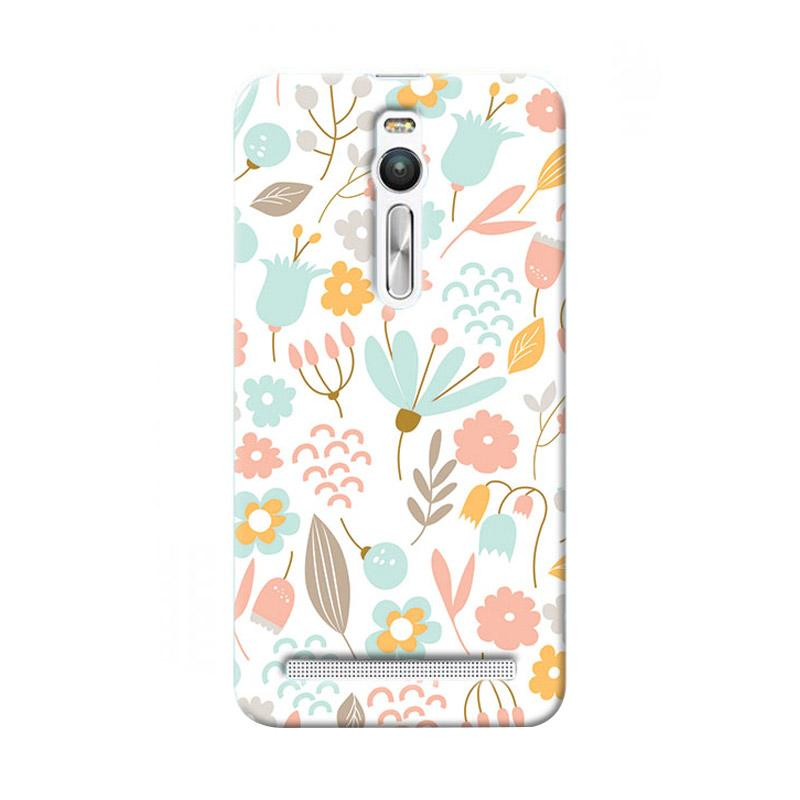 Premiumcaseid Cute Pastel Shabby Chic Floral Cover Hardcase Casing for Asus Zenfone 2
