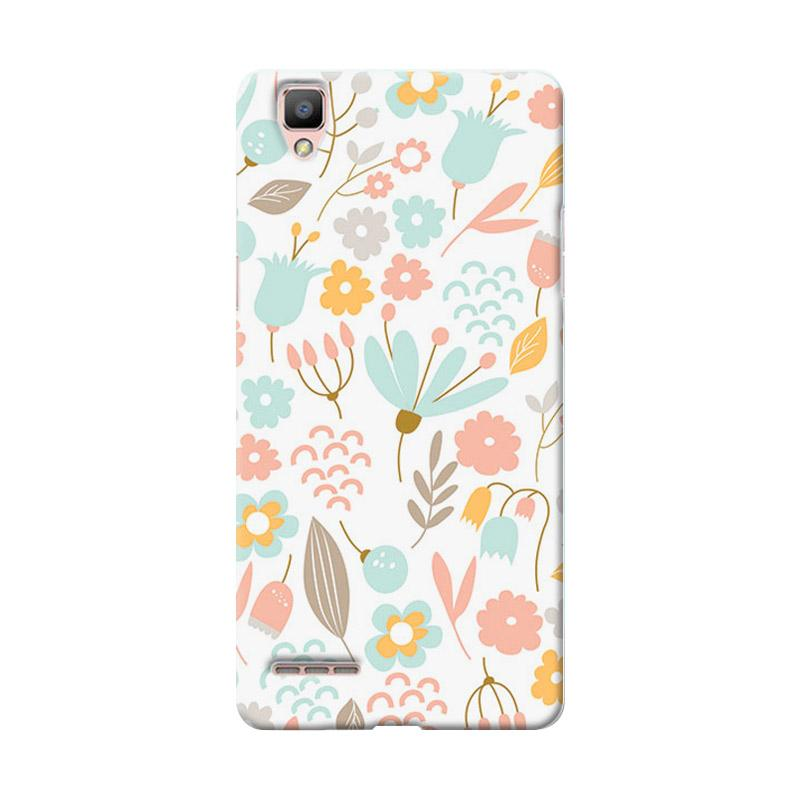 Premiumcaseid Cute Pastel Shabby Chic Floral Cover Hardcase Casing for Oppo F1