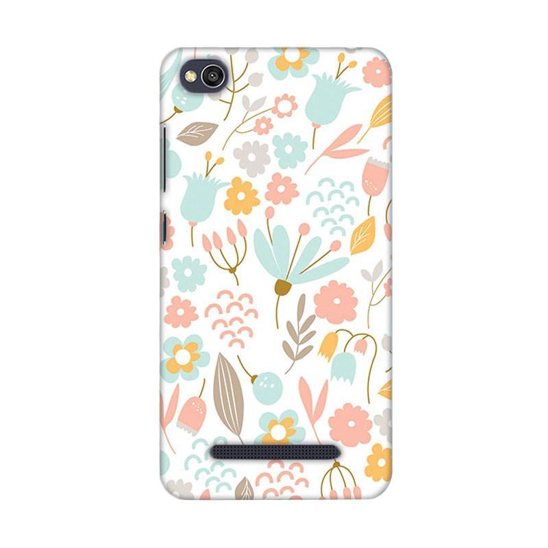 Premiumcaseid Cute Pastel Shabby Chic Floral Hardcase Casing for Xiaomi Redmi 4A
