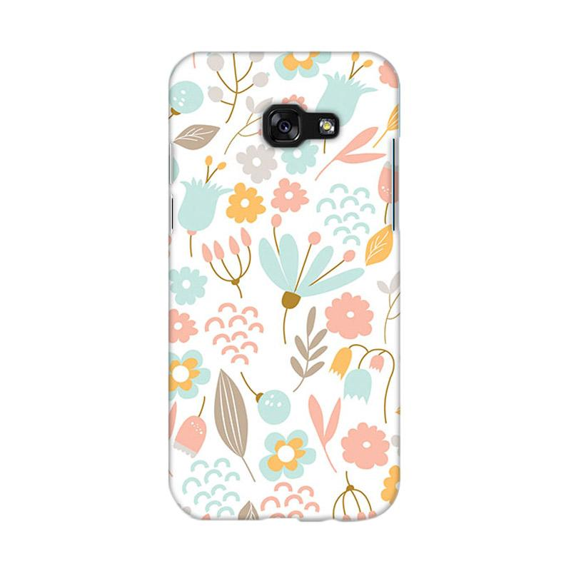 Premiumcaseid Cute Pastel Shabby Chic Floral Hardcase Casing for Samsung Galaxy A3 2017