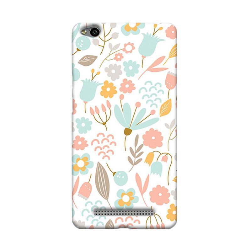 Premiumcaseid Cute Pastel Shabby Chic Floral Cover Hardcase Casing for Xiaomi Redmi 3