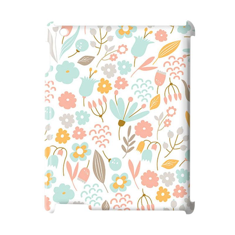 Premiumcaseid Cute Pastel Shabby Chic Floral Cover Hardcase Casing for iPad 2/ 3/ 4