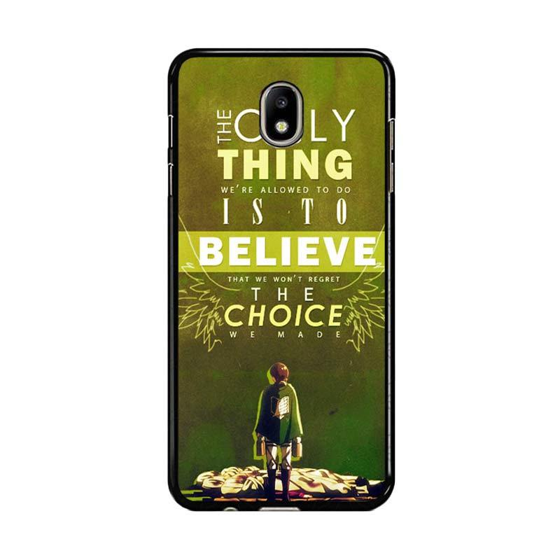 Flazzstore Attack On Titan Quotes Z1091 Custom Casing for Samsung Galaxy J7 Pro 2017