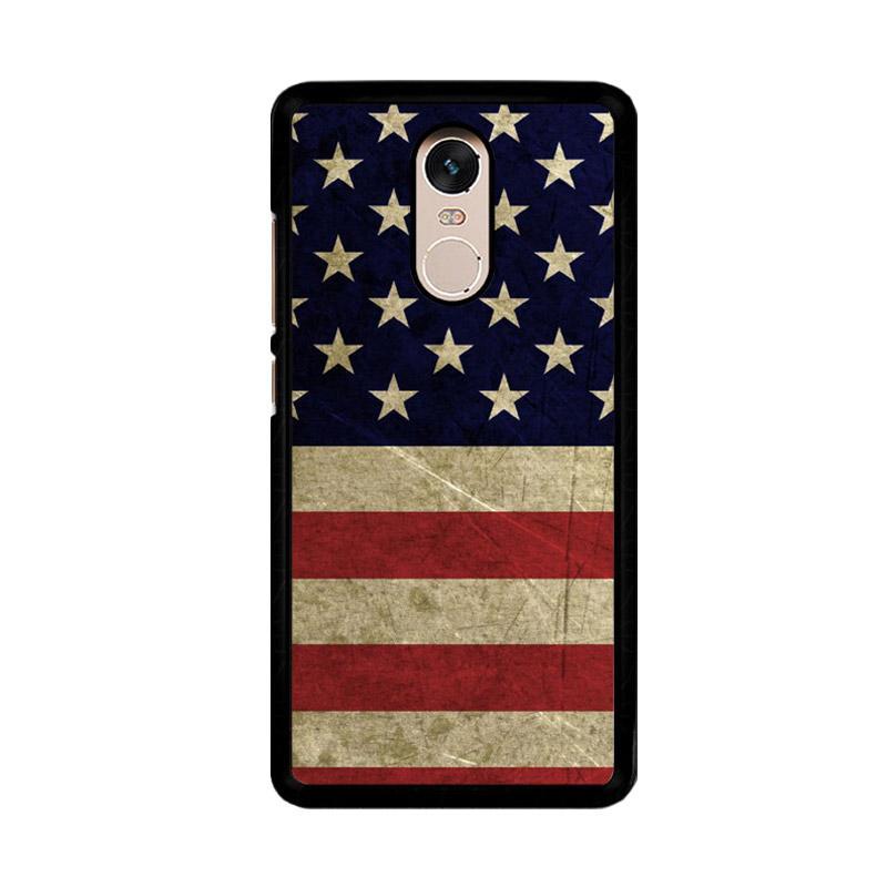 Flazzstore American Flag 3 O0232 Custom Casing for Xiaomi Redmi Note 4 or Note 4X Snapdragon Mediatek