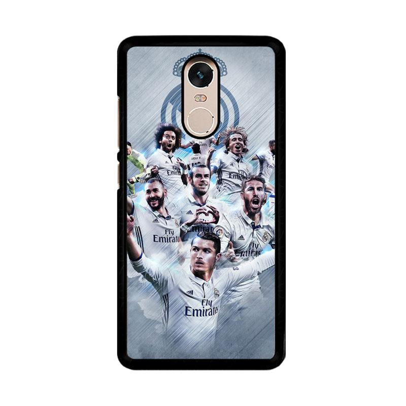 Flazzstore Real Madrid Team O1019 Custom Casing for Xiaomi Redmi Note 4 or Note 4X Snapdragon Mediatek