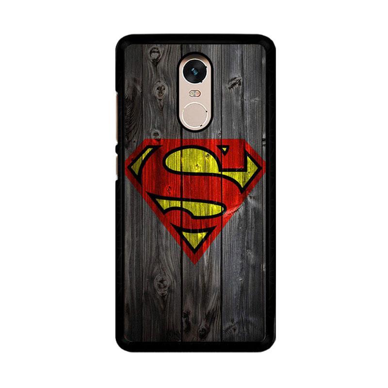 Flazzstore Wood Superman Logo 1215 F0249 Custom Casing for Xiaomi Redmi Note 4 or Note 4X Snapdragon Mediatek