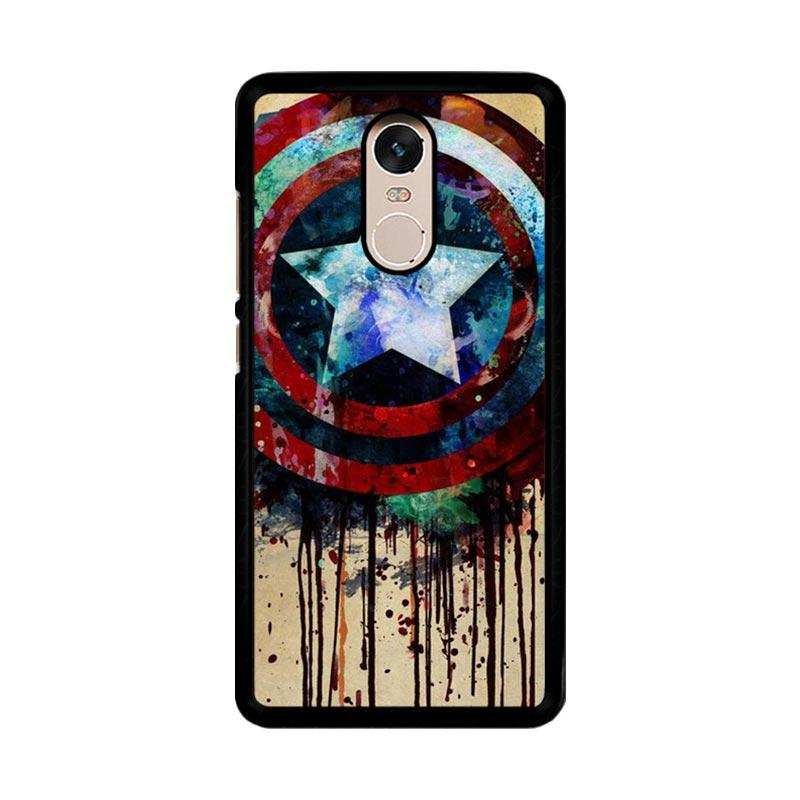 Flazzstore Captain America Shield Art F0155 Custom Casing for Xiaomi Redmi Note 4 or Note 4X Snapdragon Mediatek