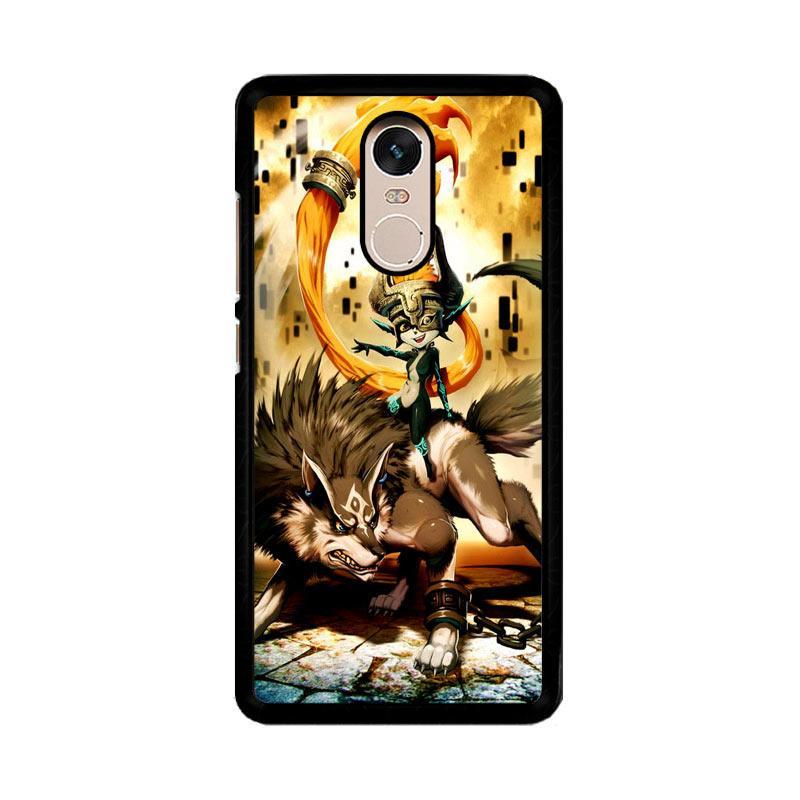 Flazzstore Zelda And Wolf Twilight Princess Z0255 Custom Casing for Xiaomi Redmi Note 4 or Note 4X Snapdragon Mediatek