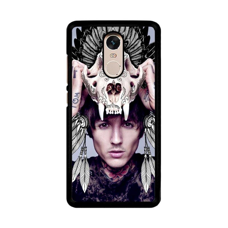 Flazzstore Oliver Sykes Skull Head Z0275 Custom Casing for Xiaomi Redmi Note 4 or Note 4X Snapdragon Mediatek