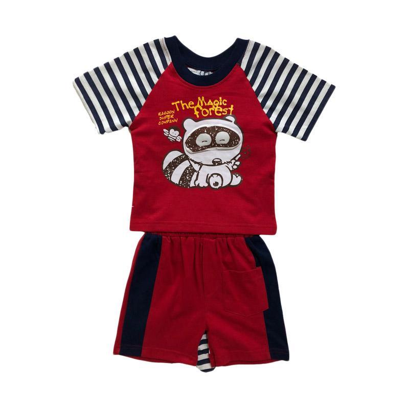 harga Fancy Friend Musang Setelan T-shirt Pakaian Anak Laki - Merah Blibli.com