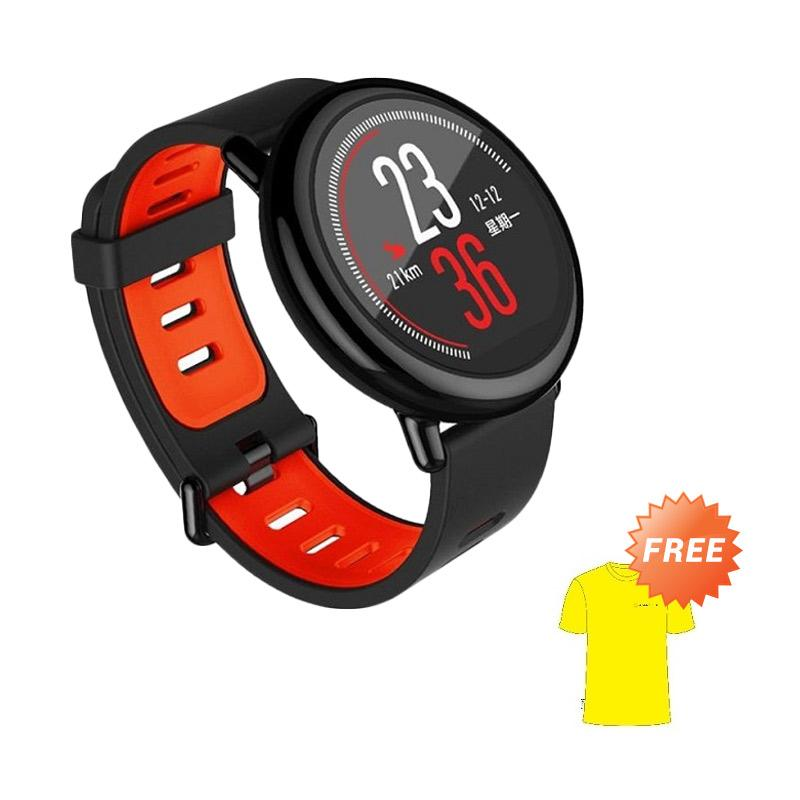 harga Xiaomi Huami Amazfit Sport International Version Smartwatch + Free Sport T-shirt Amazfit Blibli.com
