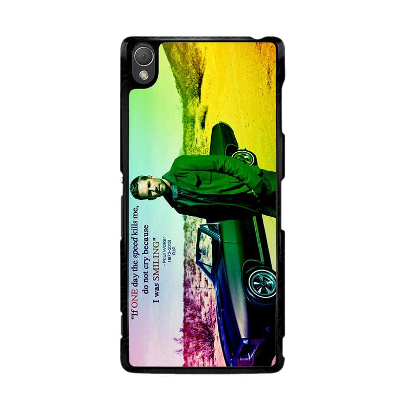 Flazzstore Paul Walker Quote Z0366 Custom Casing for Sony Xperia Z3
