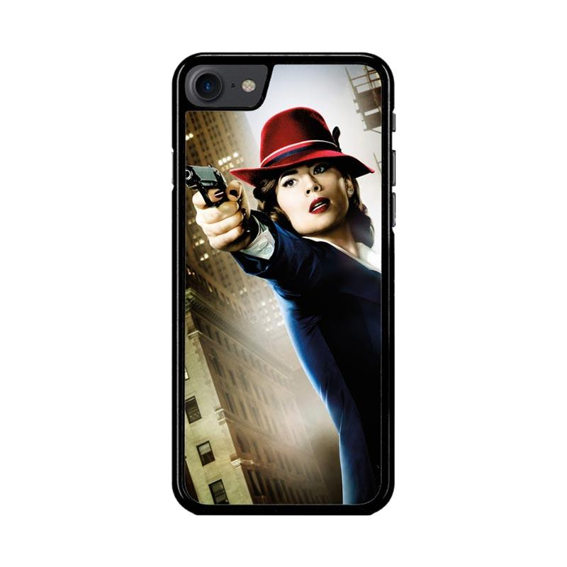 Flazzstore Agent Peggy Carter Z1577 Custom Casing for iPhone 7 or 8