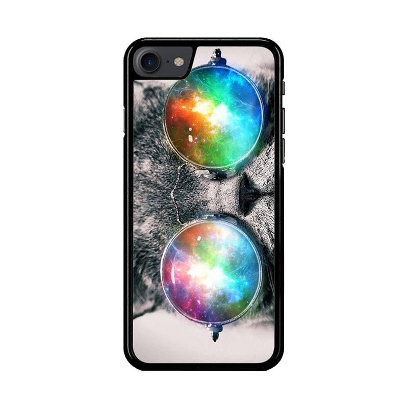 Flazzstore Space Cat Glasses Z1622 Custom Casing for iPhone 7 or 8