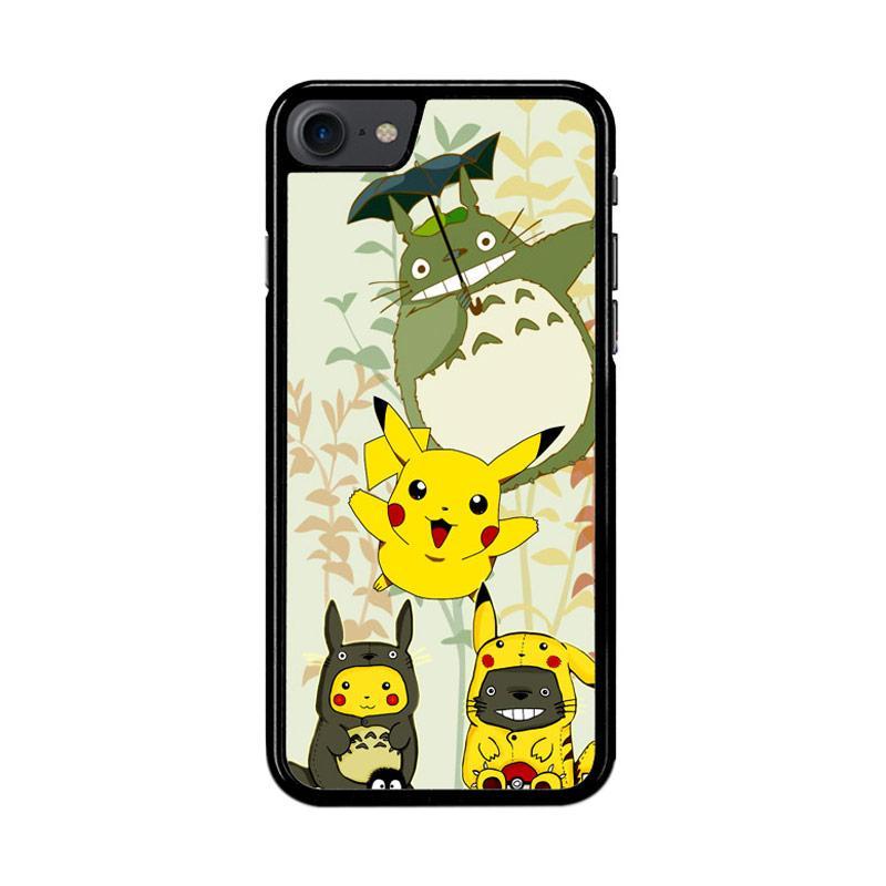 Flazzstore Totoro Love Pikachu Pokemon Z3271 Custom Casing for iPhone 7 or 8