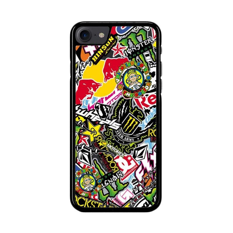 Flazzstore Sticker Bomb Z4015 Custom Casing for iPhone 7 or 8