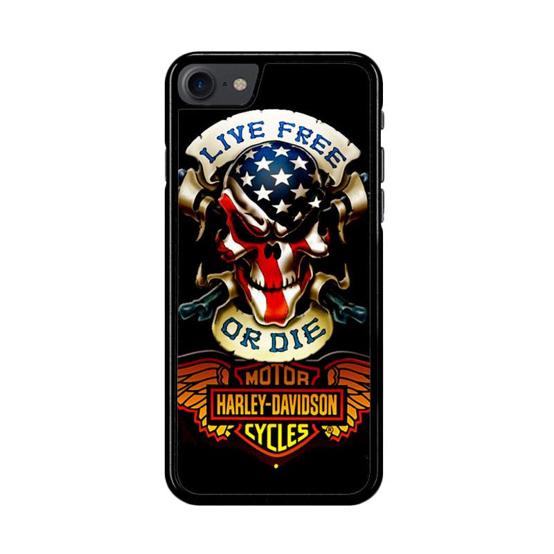 Flazzstore Harley Davidson Logo Z4052 Custom Casing for iPhone 7 or 8