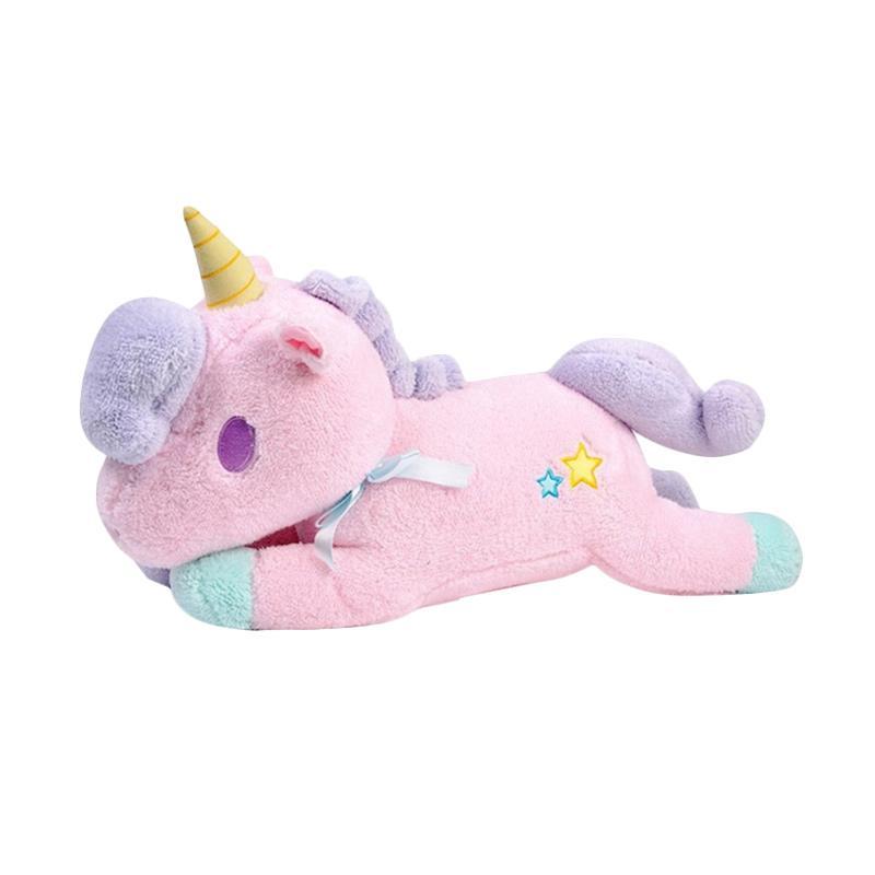 Unicorn Lying Boneka - Pink