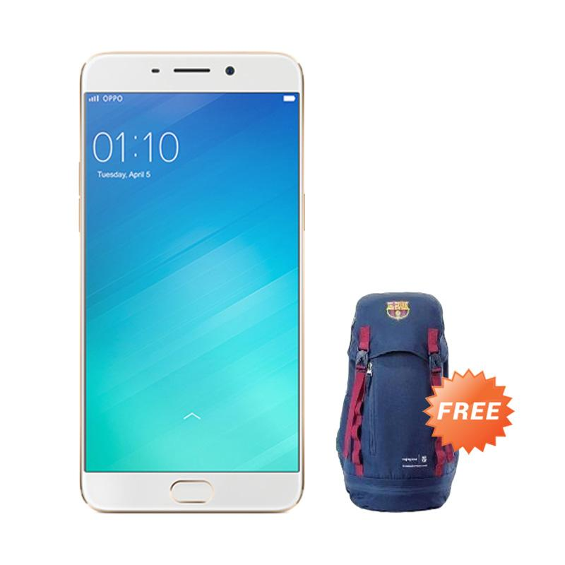 OPPO F1 Plus Smartphone - Gold + Free Tas Exclusive Barcelona