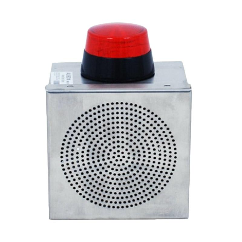 ALBOX MBS15 Metal Box Dual Piezo Siren With Tamper and Strobe Light Perangkat Keamanan