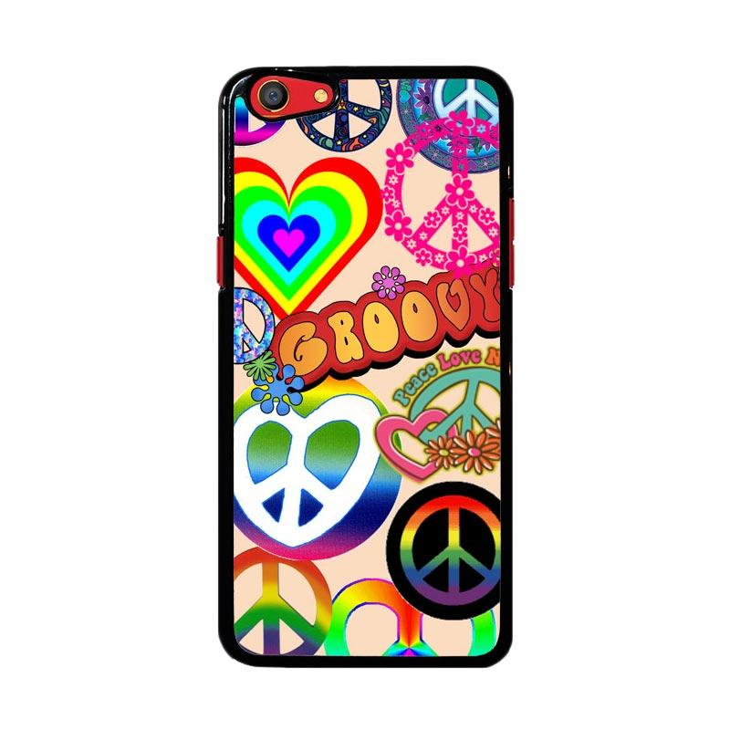 Flazzstore 60S Peace Sign D0034 Custom Casing for Oppo F3