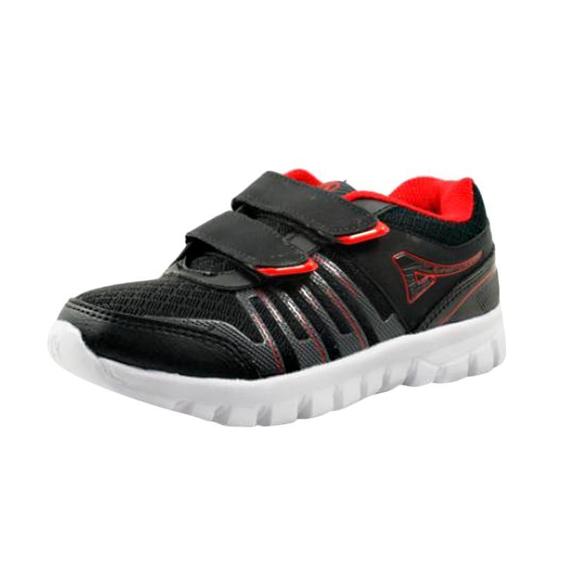 harga Ardiles Pro Casual Sepatu Sekolah Anak Laki - Hitam Merah Blibli.com