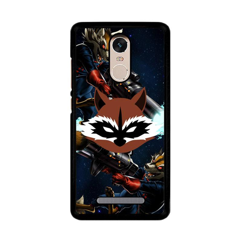 Flazzstore Rocket Raccoon Z2360 Custom Casing for Xiaomi Redmi Note 3 or Note 3 Pro