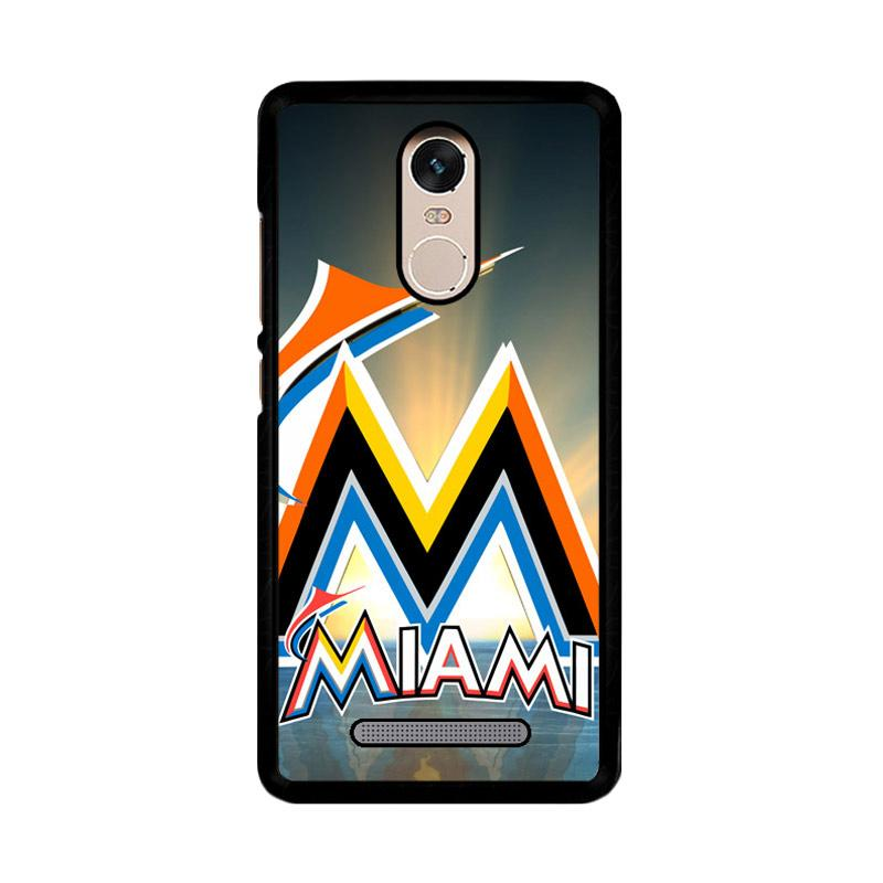 Flazzstore Miami Marlins Z3353 Custom Casing for Xiaomi Redmi Note 3 or Note 3 Pro