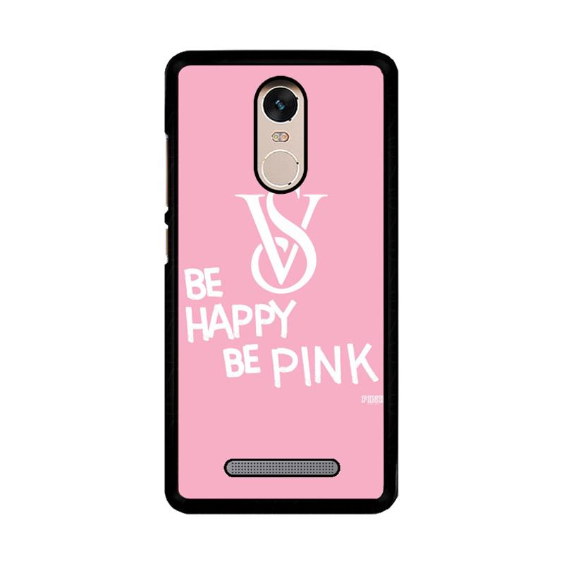 Flazzstore Be Happy Be Pink Victorias Secret Z3868 Custom Casing for Xiaomi Redmi Note 3 or Note 3 Pro