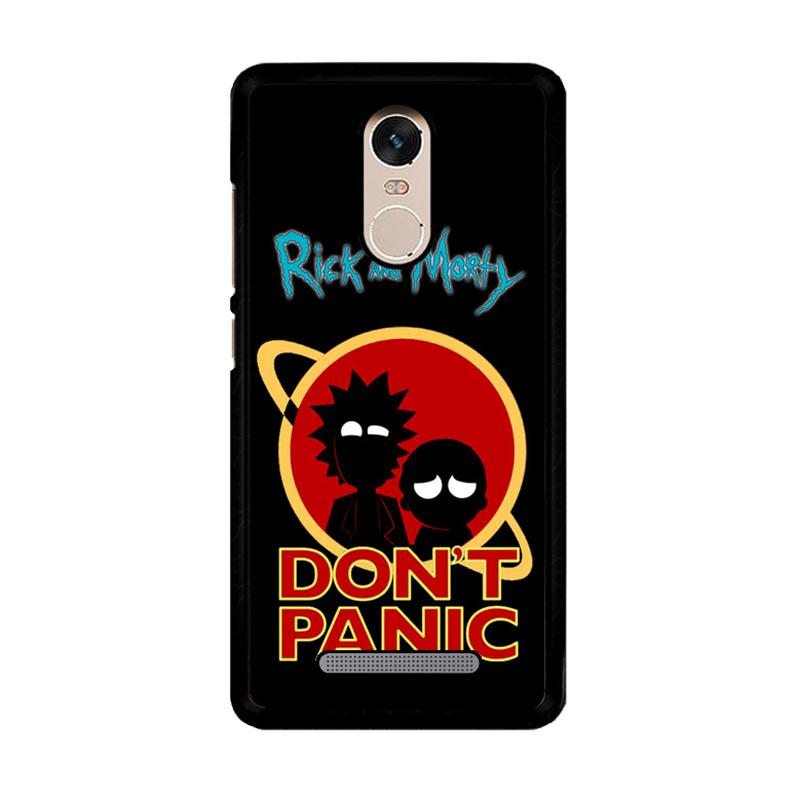 Flazzstore Rick And Morty Dont Panic Z4035 Custom Casing for Xiaomi Redmi Note 3 or 3 Pro