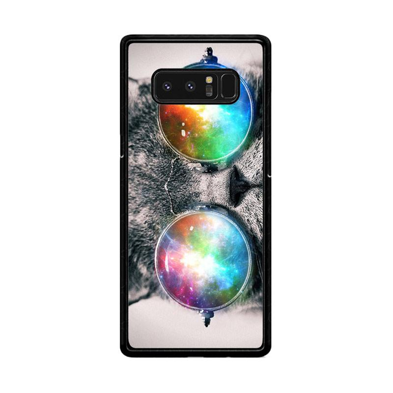 Flazzstore Space Cat Glasses Z1622 Custom Casing for Samsung Galaxy Note8