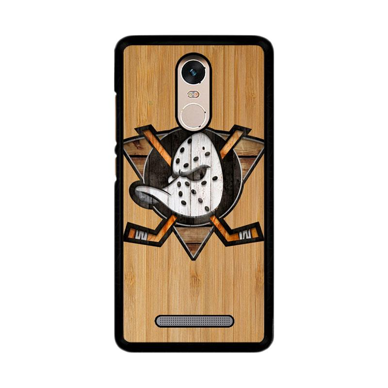 Flazzstore Anaheim Ducks Logo Wood Z4485 Custom Casing for Xiaomi Redmi Note 3 or Note 3 Pro