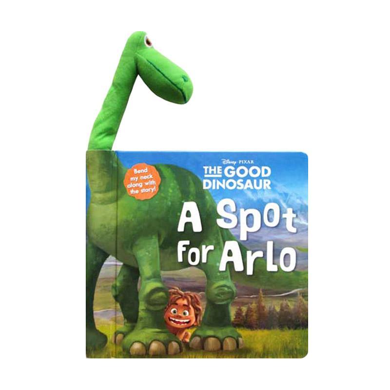 Genius Disney the Good Dinosaur A Spot for Arlo Board Book with Arlo Plush Doll Buku Anak