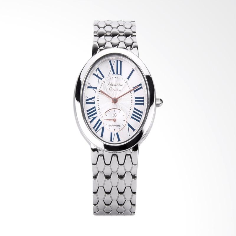 Alexandre Christie Ladies AC 2667 LS BSSSL Sapphire Jam Tangan Wanita - Silver