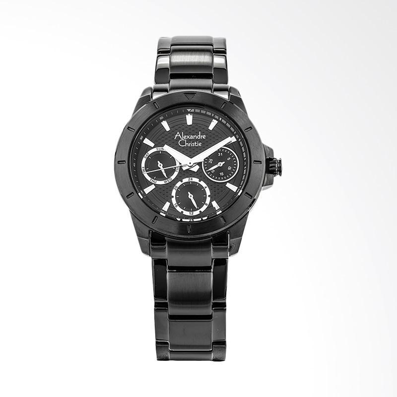 Alexandre Christie AC 6388 BF BIPBA Ladies Black Pattern Dial Jam Tangan Wanita - Black