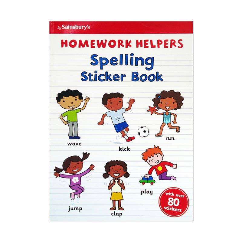 Genius Homework Helpers : Spelling Sticker Books with Over 80 Stickers Buku Anak