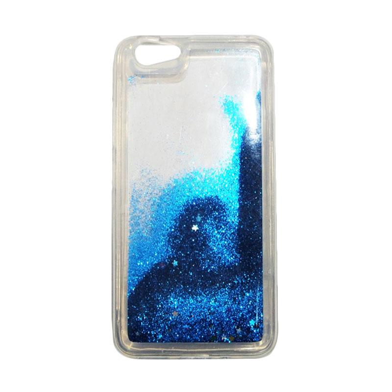 QCF Softcase Water Glitter Aquarium Silicone Casing for Vivo Y53 Case Blink Blink - Biru