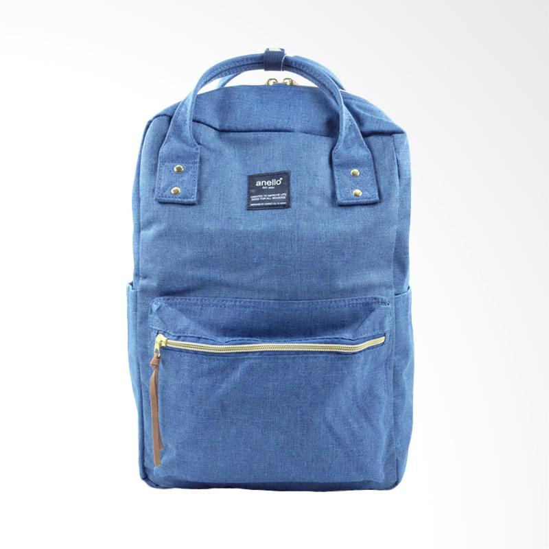 Anello Casual Square Backpack Tas Ransel - Denim Blue