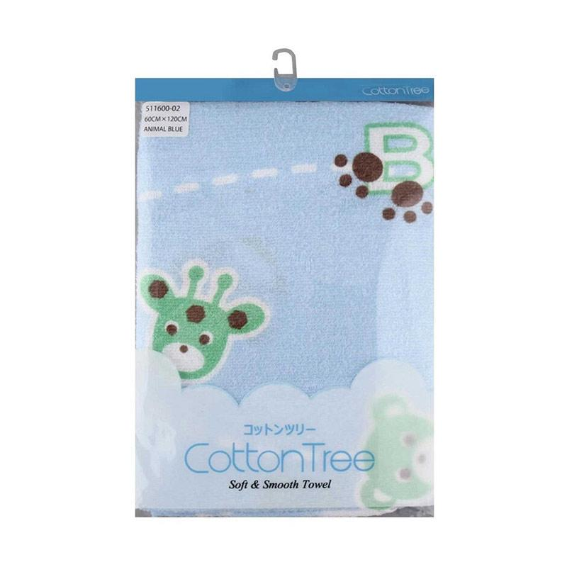 Cotton Tree Animal Handuk - Blue [60 x 120 cm]