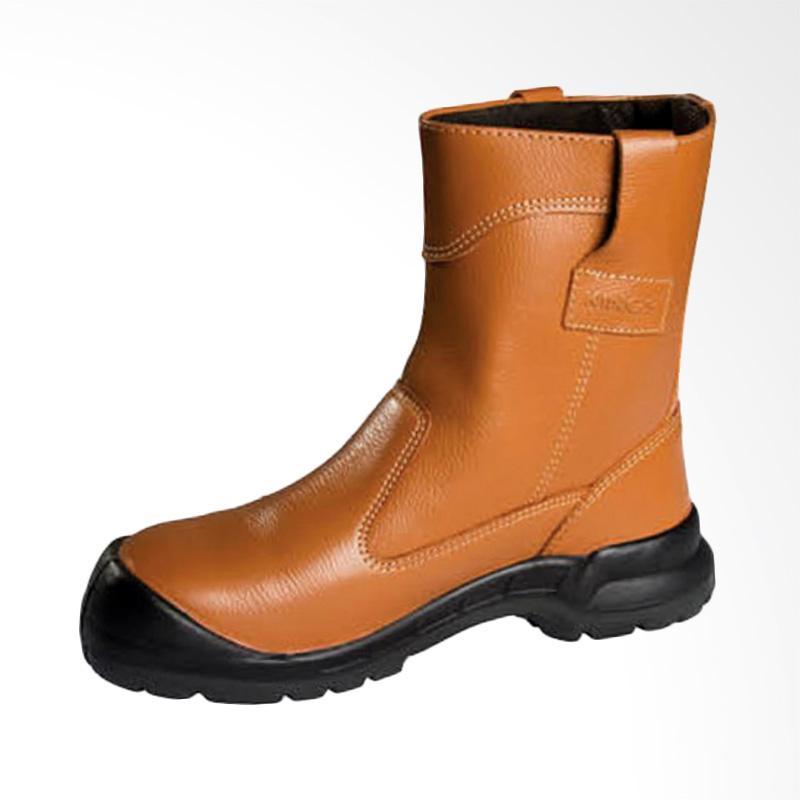 harga KING'S Sepatu Boot Pria - Brown [KWD 805cx] Blibli.com