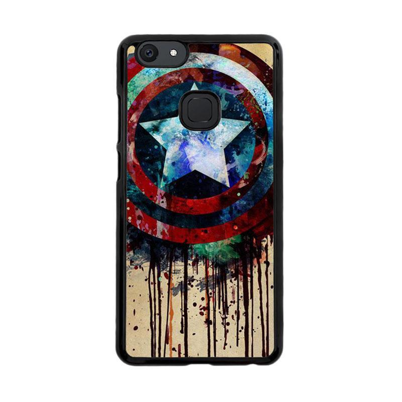 Flazzstore Captain America Shield Art F0155 Custom Casing for Vivo V7