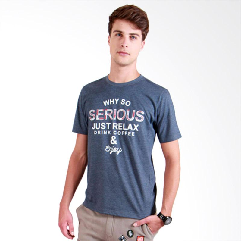 180 Degrees Why So Serious T-Shirt Pria - Navy
