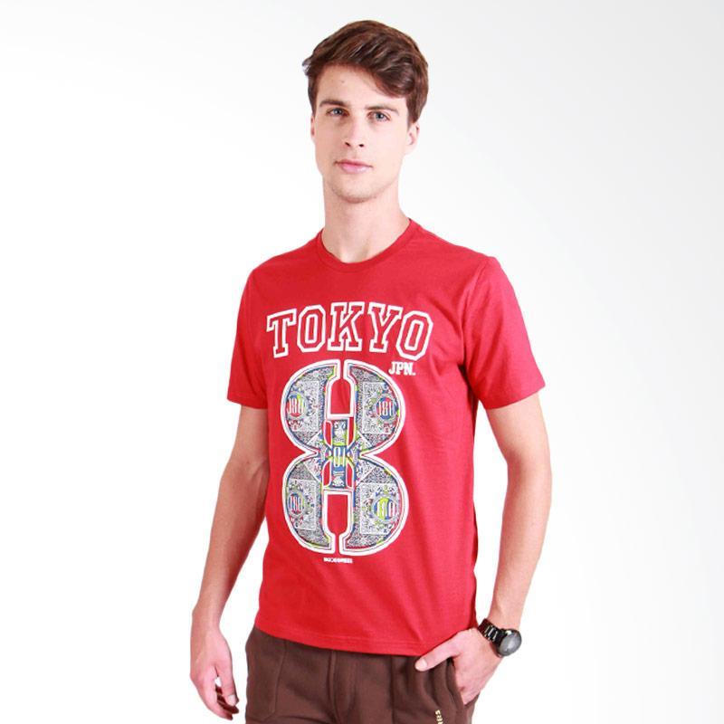 180 Degrees Tokyo 8 T-Shirt Pria - Merah